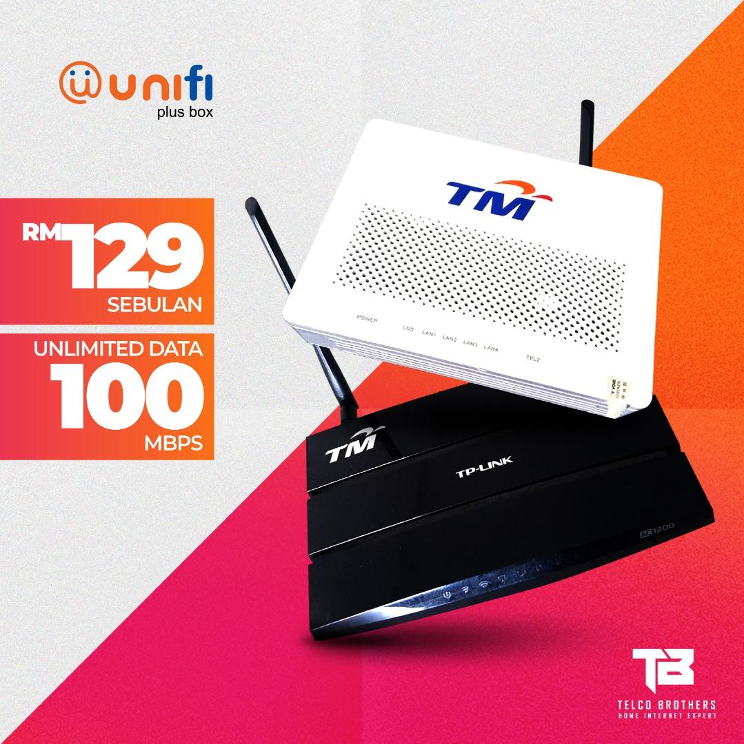 Pakej Unifi 100Mbps