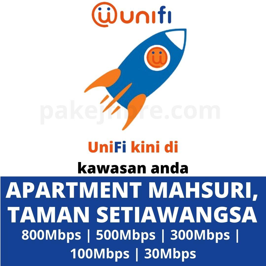 UNIFI COVERAGE APARTMENT MAHSURI, TAMAN SETIAWANGSA